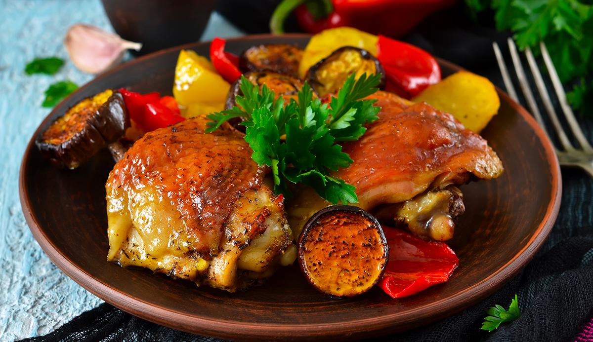 Cosce di pollo Bioalleva ai peperoni